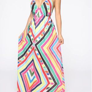 Fashion Nova Shaping The Future Maxi Dress NWOT